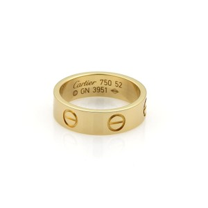Cartier Love 18k Yellow Gold 5.5mm Band Ring