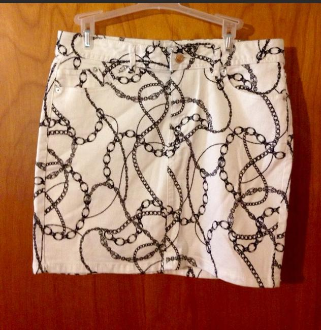 Cache Chain Print Skirt Black/ White