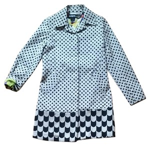 Desigual by Christian Lacroix Polka Dots Coat Off white and black Jacket