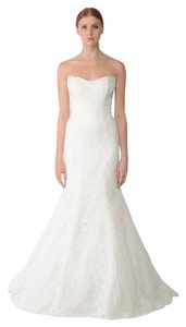 Monique Lhuillier Bliss - Embroidered Lace Trumpet Dress Wedding Dress