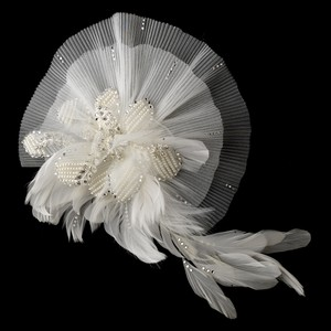 Elegance By Carbonneau Ivory Brooch Clip Fascinator 471