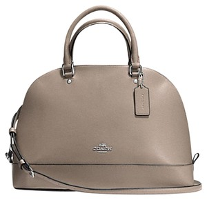 Coach Cora Domed Border Studed 37238 Satchel in silver /Fog