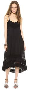 Black Maxi Dress by Twelfth St. by Cynthia Vincent 100% Cotton Maxi Lace