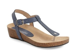 Cordani Leather Thong Leather Sole Blue Sandals