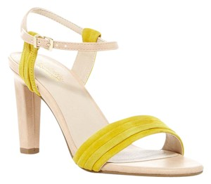 Seychelles Ankle Sandal Leather Suede Yellow Pumps