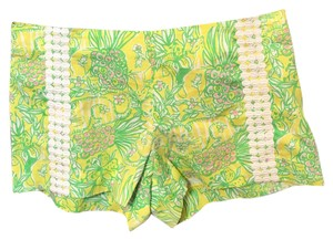Lilly Pulitzer Mini/Short Shorts Yellow & green