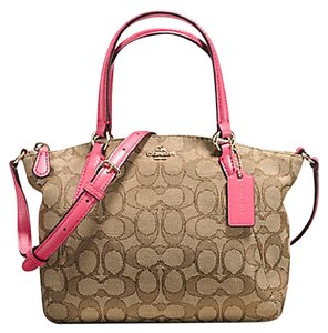 Coach Metallic Blue Hobo Satchel in GOLD/LIGHT KHAKI Strawberry
