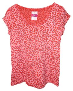 Fresh Produce Scoop Neck T Shirt Coral