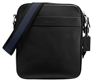 Coach Mens F54782 54782 F54782 Black Leather Messenger Bag