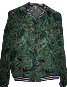 Juicy Couture Cover Up. shades of green /yellow pattern Jacket