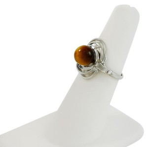 Other Tiger's Eye Sterling Circle Ring Size 5