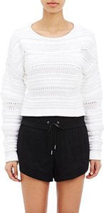 Helmut Lang Open Knit Crop Sweater