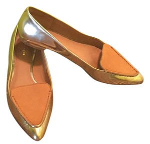 Coach Gold/nude Flats