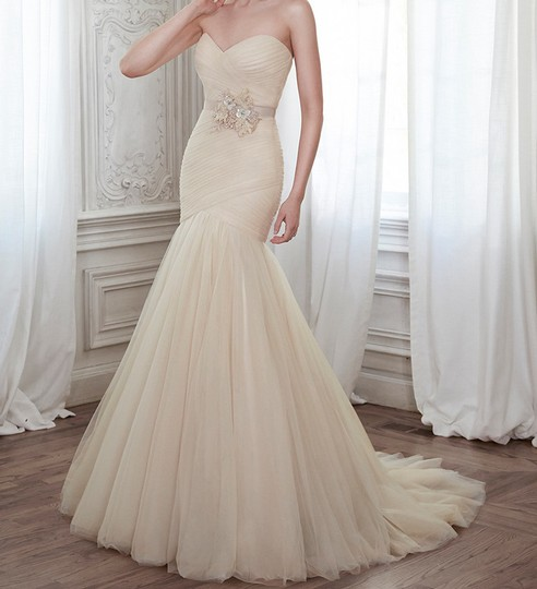 Used Plus Size Wedding Dresses: Maggie Sottero Champagne 5mz134 Wedding Dress Size 24