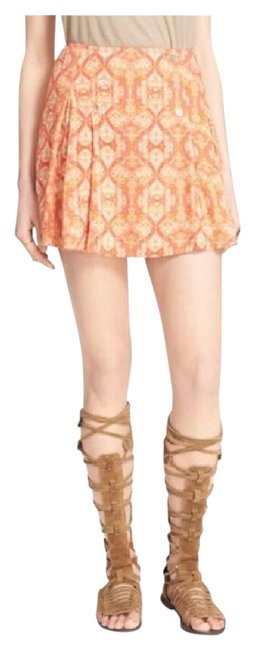 Item - Orange Mini Skirt Size 8 (M, 29, 30)