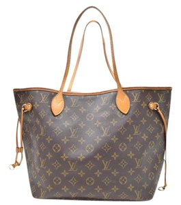 Louis Vuitton Neverfull Vuitton Monogram Mm Tote in Brown