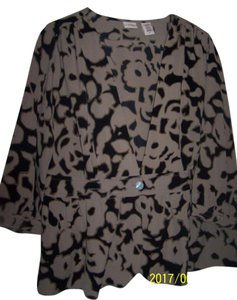 CONVICTION Coverup Blouse BROWN PATTERN Jacket