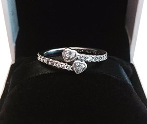 PANDORA AUTHENTIC FOREVER HEARTS RING W/ TAG & BOX. ALL SIZES