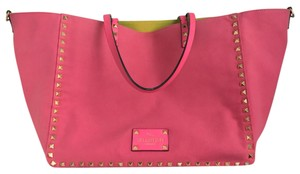 Valentino Tote in Neon pink/ neon green