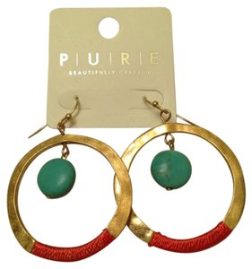 Pure Energy Gold Hoop Earrings
