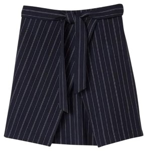 Banana Republic Mini Skirt navy pin stripes