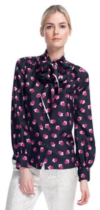 Marc Jacobs Silk Top Black and pink