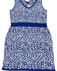 Romeo & Juliet Couture short dress blue and white on Tradesy