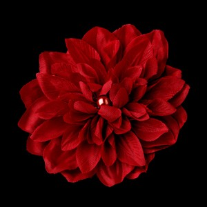 Elegance by Carbonneau Red Flower Clip Dahlia For Day 402 Brooch/Pin