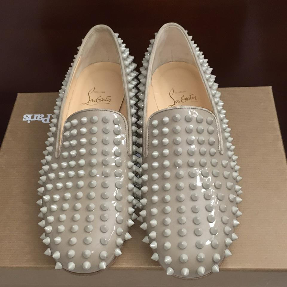 dcc57d40e15 Christian Louboutin Stone Rolling Spiked Patent Calf Flats Size US 7  Regular (M, B) 47% off retail