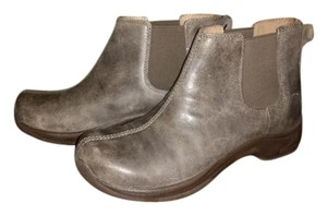 Dansko Leather Rubber Clog Grey Boots
