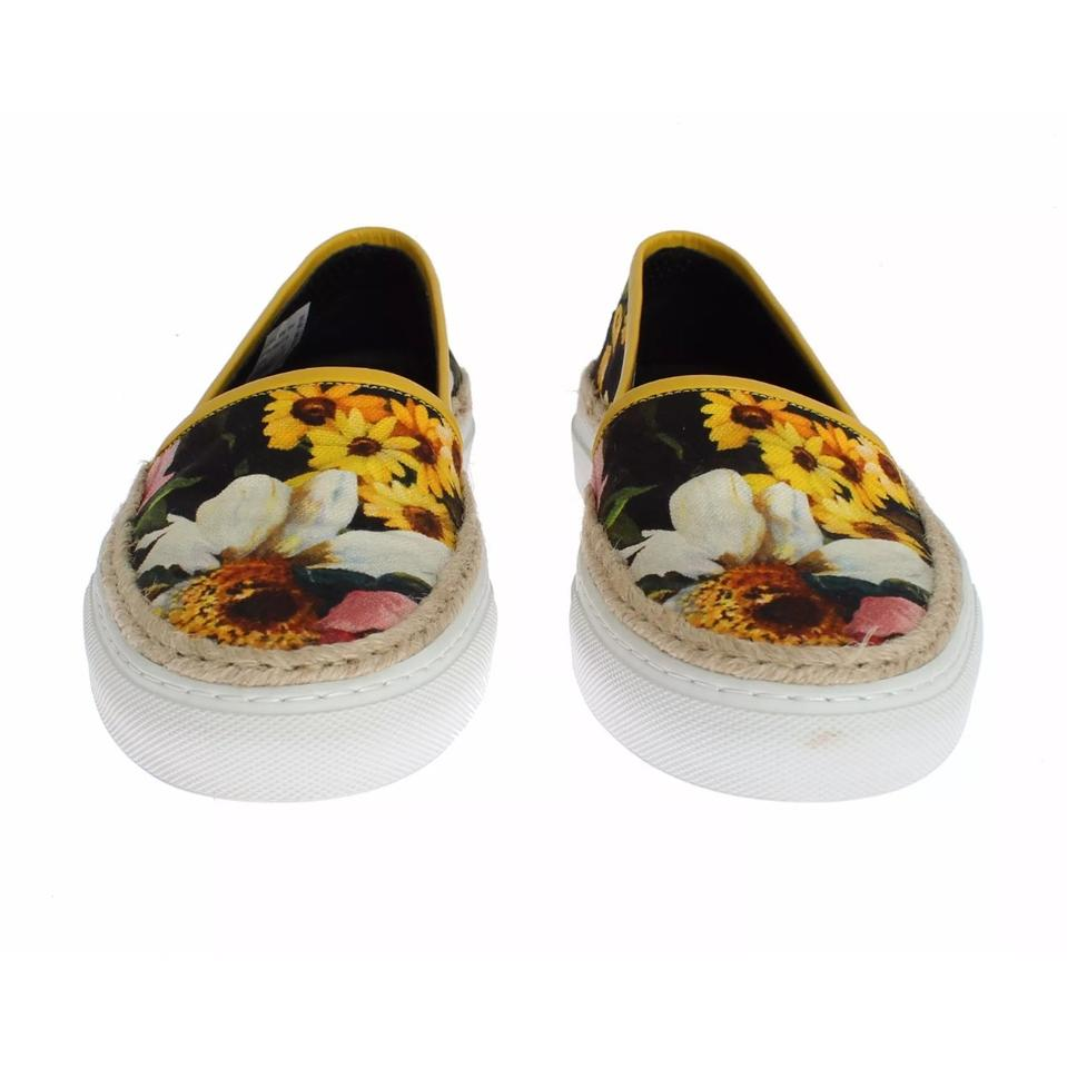 Jute amp;Gabbana on Canvas Floral Dolce and Slip Sneakers 6xfqgSwTnw