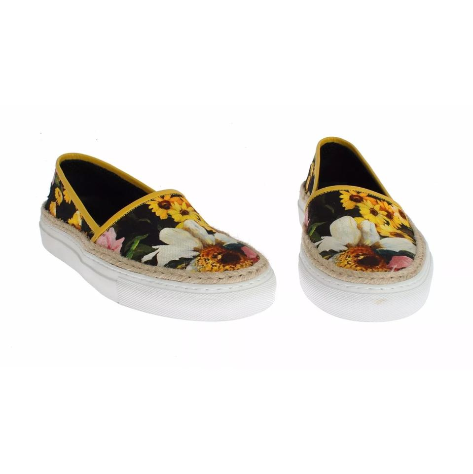 amp;Gabbana and Floral Canvas Dolce Jute on Sneakers Slip tqzUzw