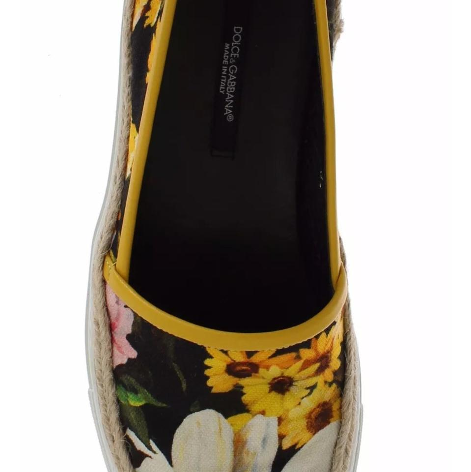 Slip Sneakers Dolce Jute on Floral and amp;Gabbana Canvas XqXxz16w