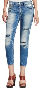 True Religion Distressed Slim Boyfriend Cut Jeans-Distressed