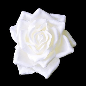 Elegance by Carbonneau White Rose Bud Medium Hair Clip 401 Brooch/Pin