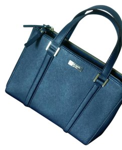 Kate Spade Leather Formal Satchel in Navy Blue