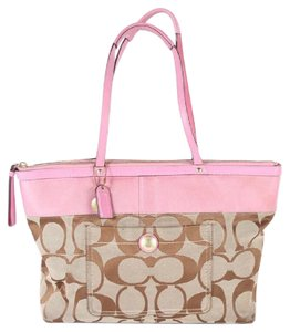 Coach Fabric Leather Shoulder Bag
