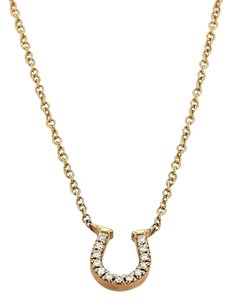 Tiffany & Co. Diamonds Horse Shoe Pendant Necklace in 18k Rose Gold