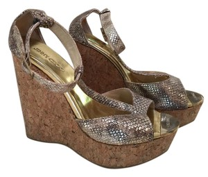 Jimmy Choo Snakeskin, Cork Wedge Wedges