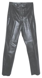 Colebrook & Co. Soft Smooth Straight Pants Black Leather