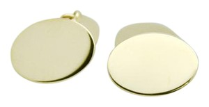 Tiffany & Co. Vintage 14k Yellow Gold Oval Cufflinks