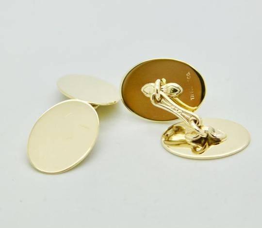 Tiffany & Co. Vintage 14k Yellow Gold Oval Cufflinks Image 1