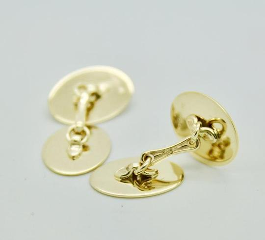 Tiffany & Co. Vintage 14k Yellow Gold Oval Cufflinks Image 3