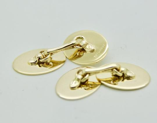 Tiffany & Co. Vintage 14k Yellow Gold Oval Cufflinks Image 6