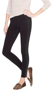 J.Crew Leather Skinny Pants Black