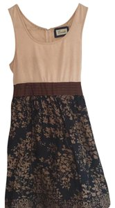 Emmelee short dress Beige, brown, black & mocha on Tradesy