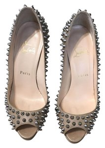 Christian Louboutin Studded Beige Pumps