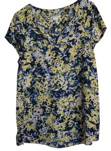 Liz Claiborne Top blue and yellow