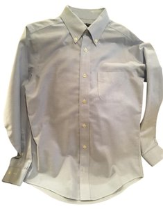 Brooks Brothers Preppy Casual Shirt Boy Button Down Shirt Blue S