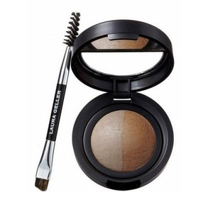 Laura Geller Laura Geller Baked Brow Tones w/Double Ended Brow Brush Taupe